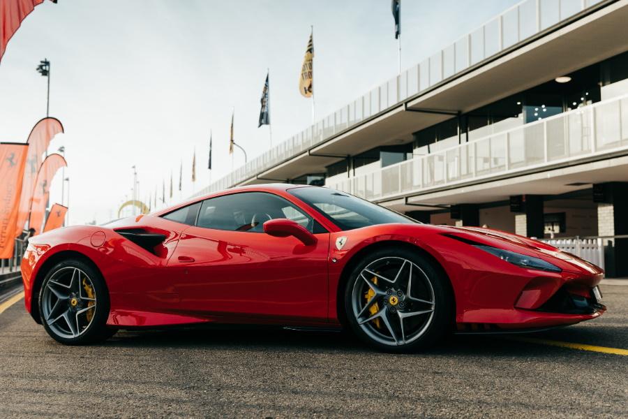 Ferrari F8 Tributo in red