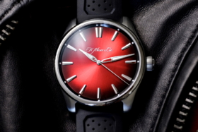 h moser and cie swiss mad red watch