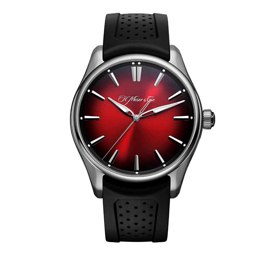 H Moser swiss mad red watch