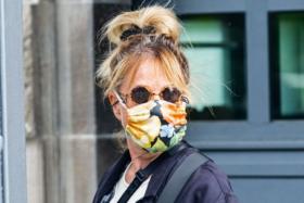 A Karen with a mask