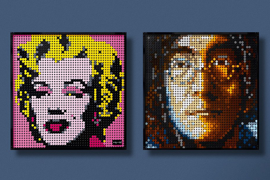 Lego has a new line of buildable pop art