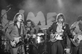Lime Cordiale performing on stage