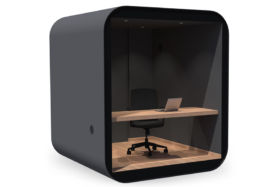 Livit Study Pod with table and chair inside