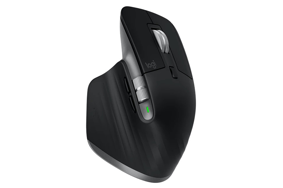 Logitech MX Master 3 and MX Keys for Mac top view mouse