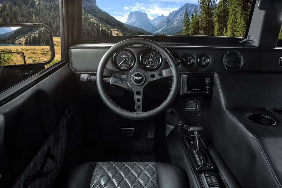 Mil Spec Hummer H1 dashboard and steering wheel