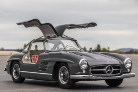 Mercedes Gullwing for Auction both doors are open
