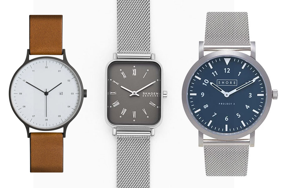 Three minimalist watches from the list