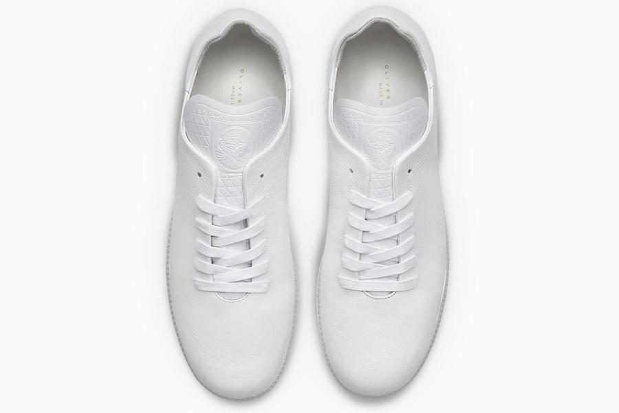 luxury white leather sneaker