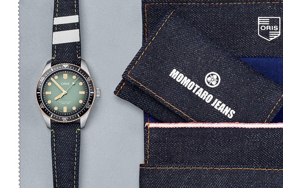 Oris x Momotaro Denim Watch set