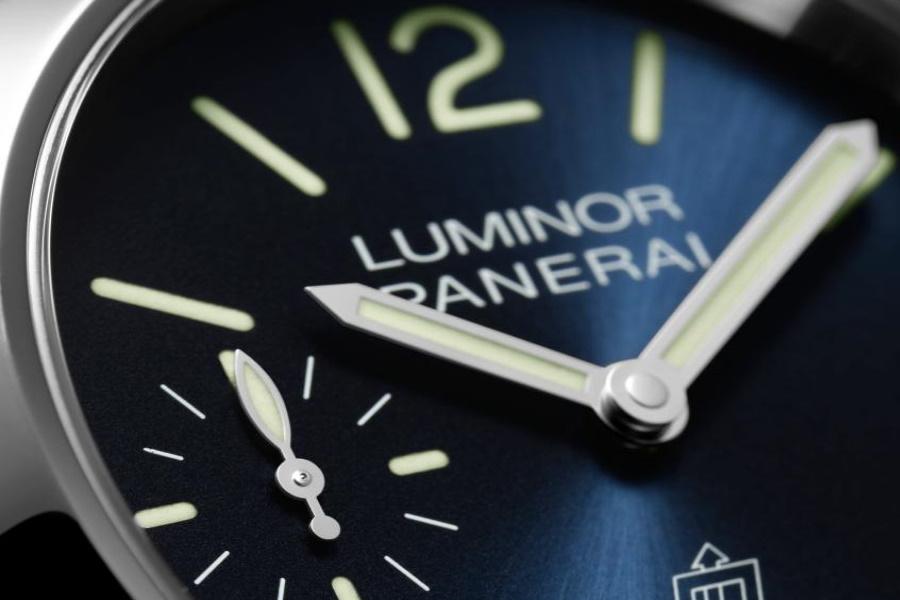 Panerai Luminor Blu Mare watch close up