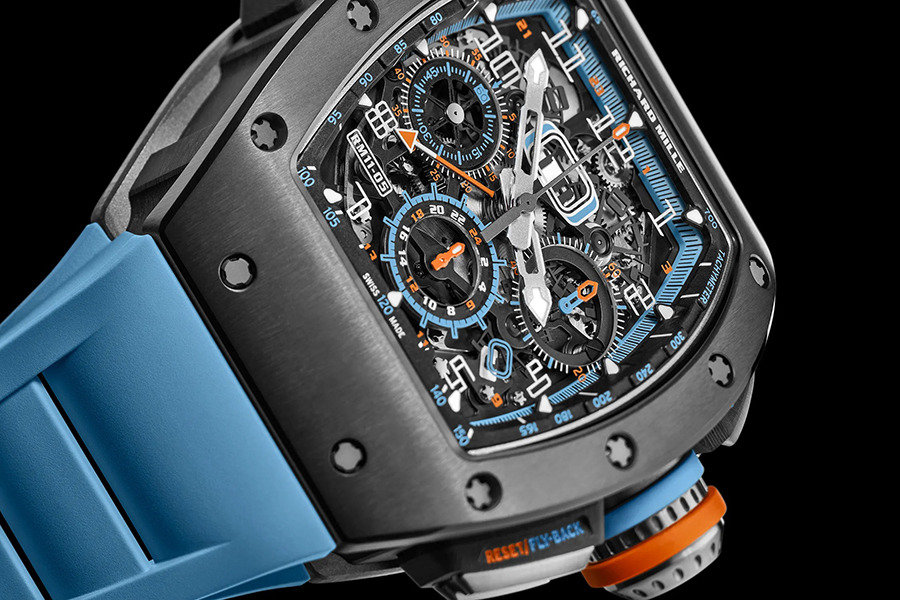 RM 11-05 Automatic Winding Flyback Chronograph GMT long and short hand