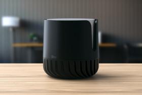 Black Gino Air Sanitizer on a desk