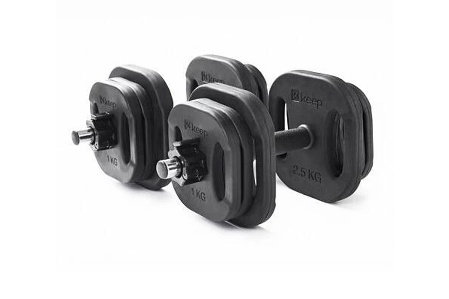 Square-Shaped Cast-Iron Dumbbells
