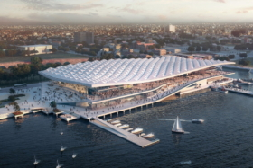 Aerial view of Sydney Fish Markets