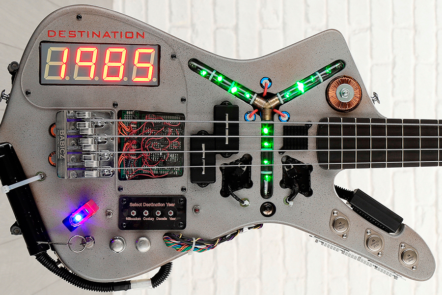 Time Machine Bass From Back to the Future body