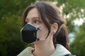 air purifying UVMask in black