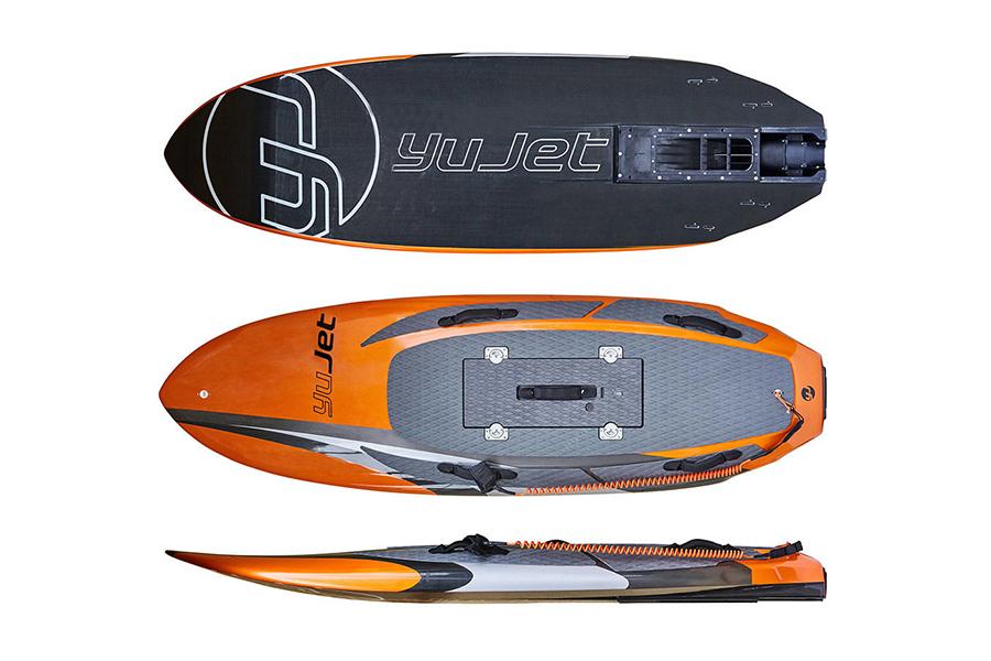 Yujet Surfboard top view