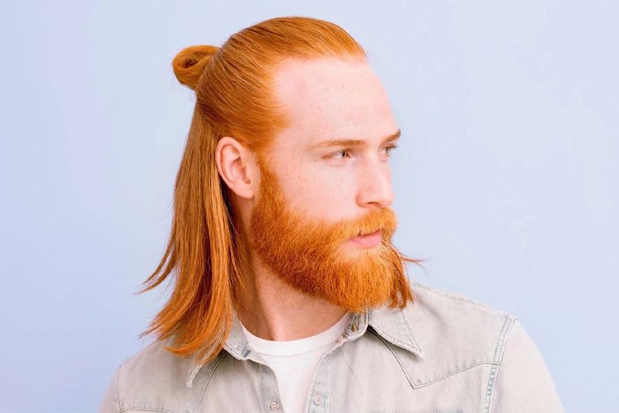 best men's haircuts - half up
