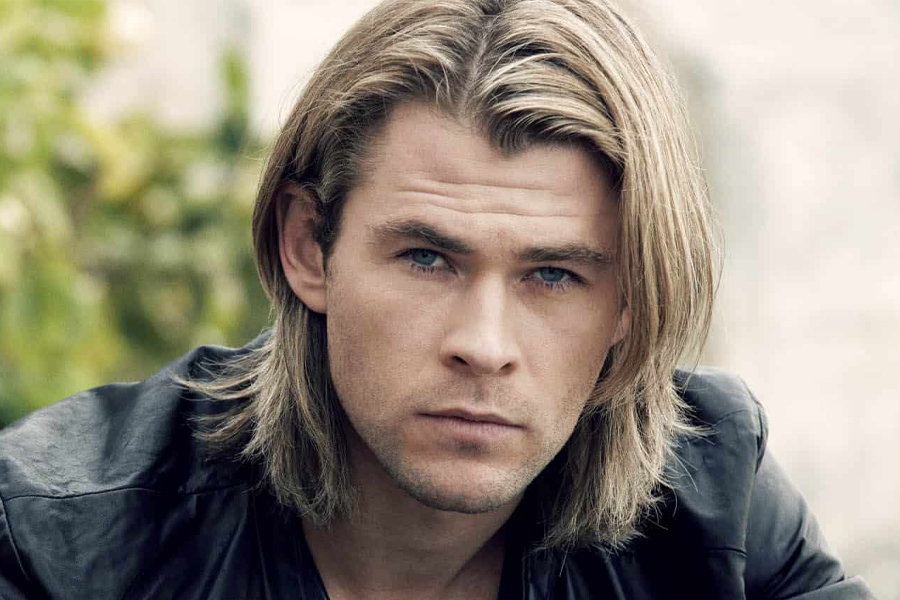 best men's haircuts - parted long hair