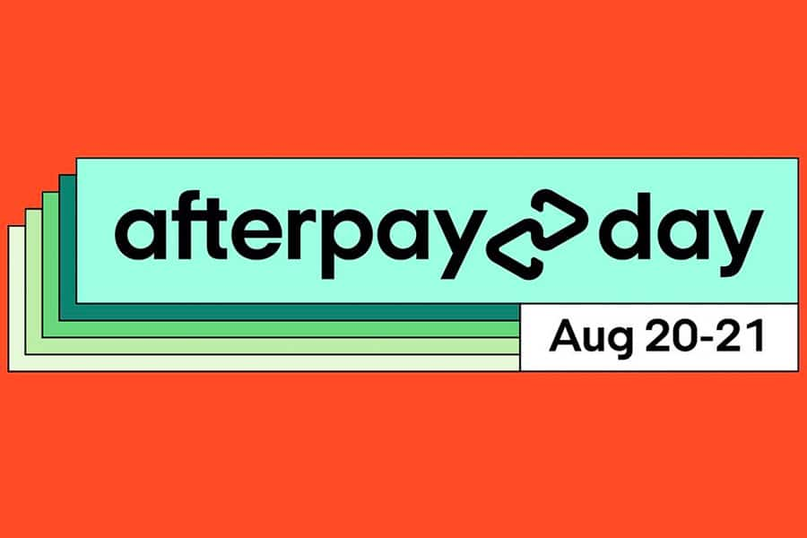 afterpay day August 20-21 graphic
