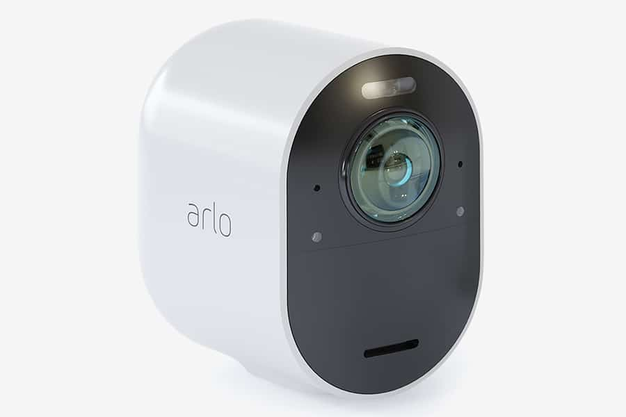 Arlo Spotlight Security Camera side view