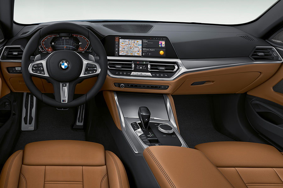 BMW 4 Series Coupe dashboard and steering wheel