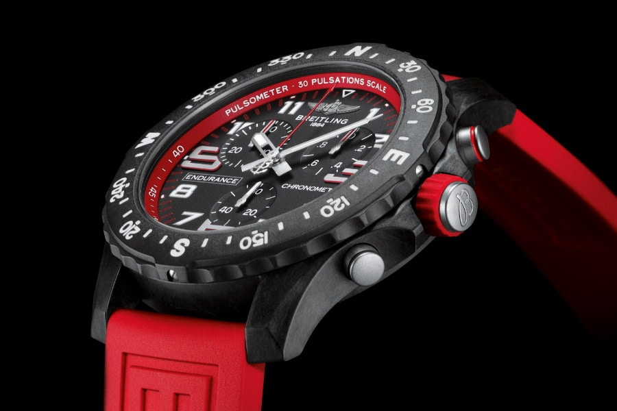 breitling sports watch in red