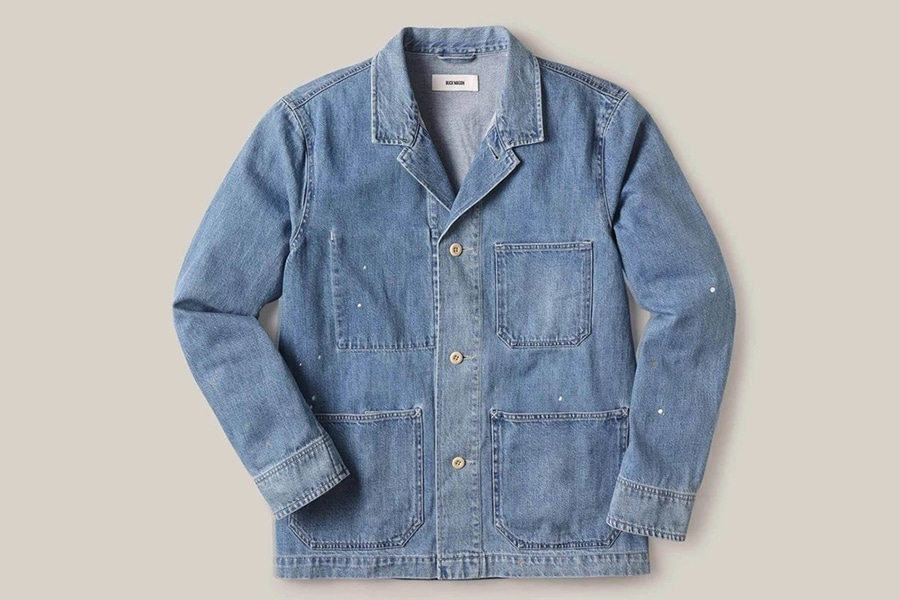 Buck Mason's New Light Denim Wash Line long sleeves