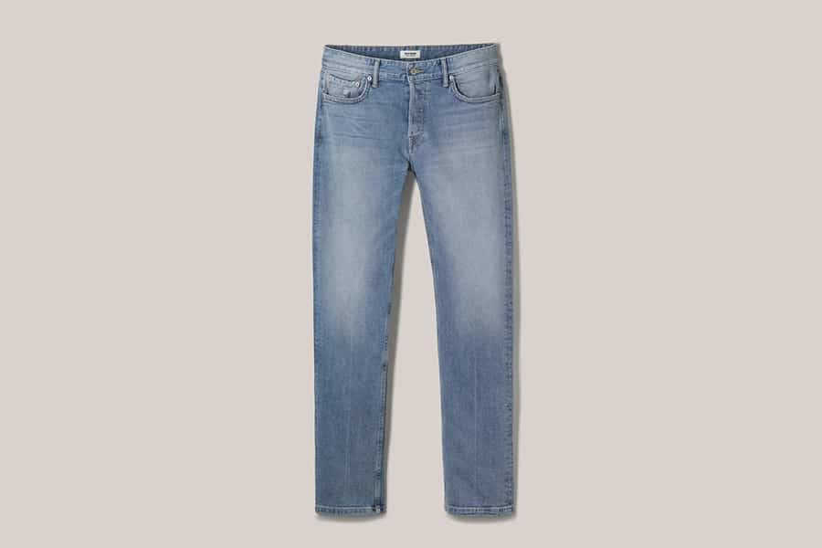 Buck Mason's New Light Denim Wash Line Pants