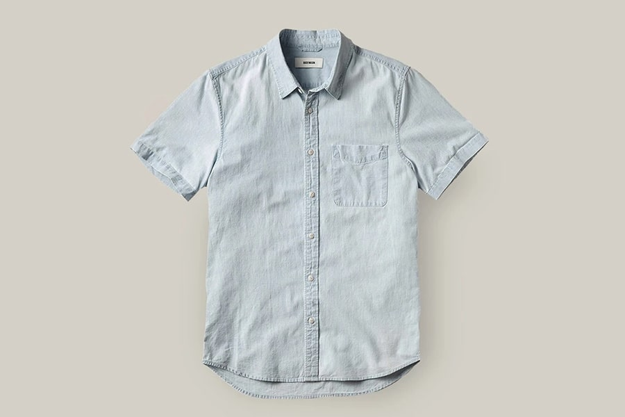 Buck Mason's New Light Denim Wash Line Shirt