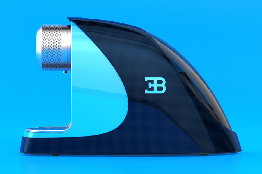 Bugatti Etiron espresso machine side view