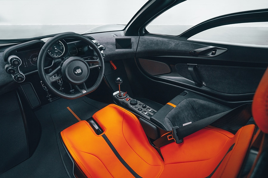 Designer of the McLaren F1 debuts the T.50 dashboard and steering wheel