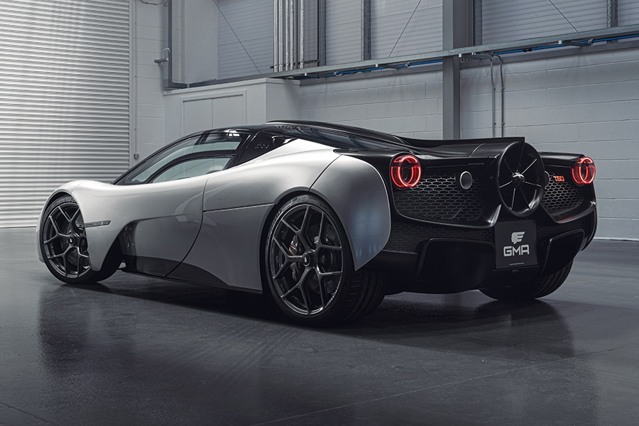 Designer of the McLaren F1 debuts the T.50 back side view