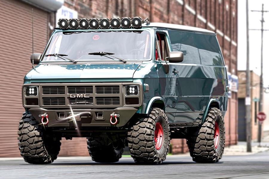 GMC 83 Van Concept side view