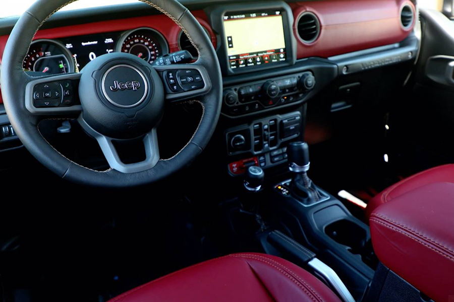 Jeep® Introduces New 6.4-liter V-8 Wrangler Rubicon 392 Concept dashboard and steering wheel