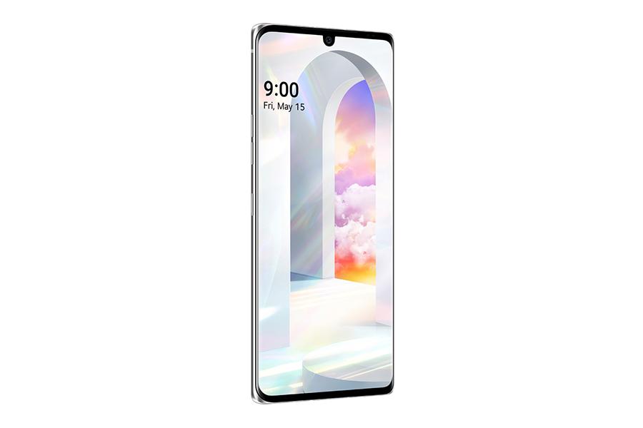 LG Velvet smartphone side view