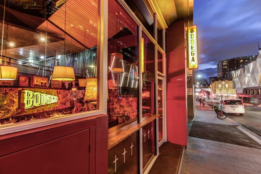 Front of Bodega Underground restaurant