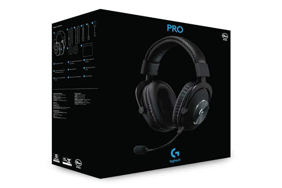 Logitech Pro X wirless gaming headset box