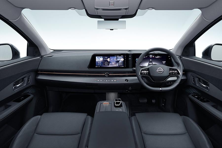 Nissan Aryia dashboard and steering wheel