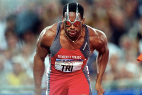 Trinidad & Tobago athlete wearing Oakley OVERTHETOP Goggles