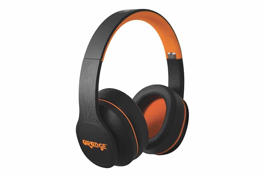Orange Crest Headphones
