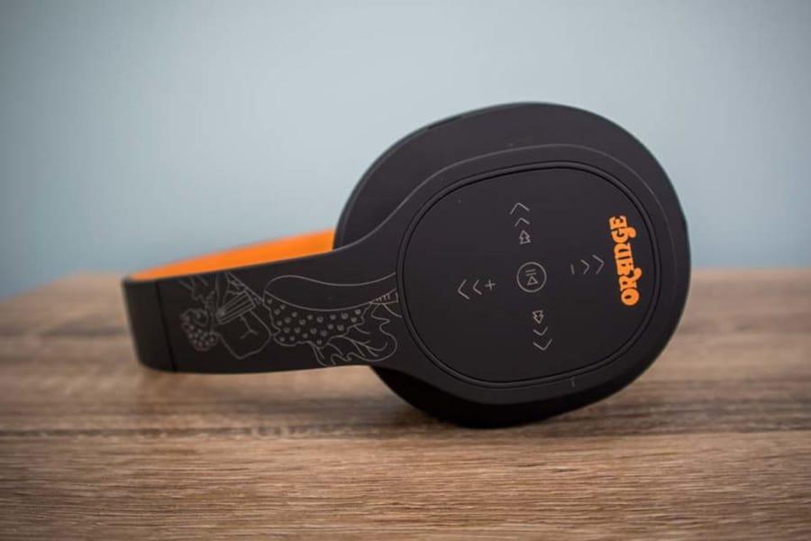 Wireless Orange Crest Headphones