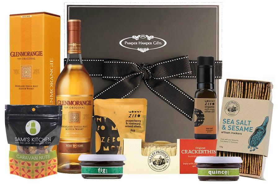 Glenmorangie and Gourmet Nibbles Hamper from Pamper Hamper Gifts