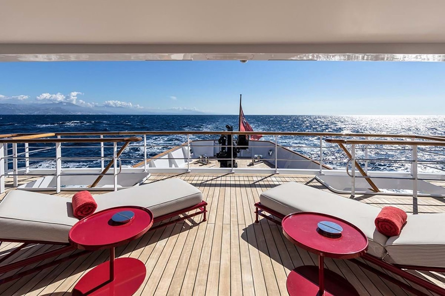 Russian Navy Ship converted to Superyacht view deck