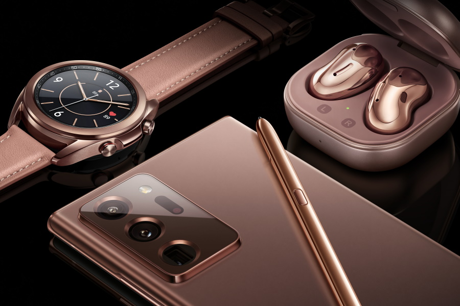 Samsung Galaxy Note20, Watch 3 and Buds Live