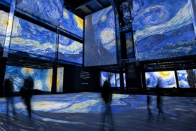 Immersive Van Gogh Denver with Starry Night on screens