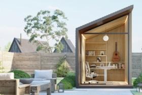 Zen Prefab Work Pod in lawn