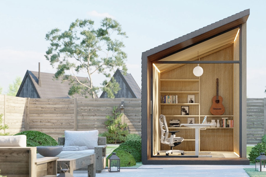 Zen Prefab Work Pod in lawn