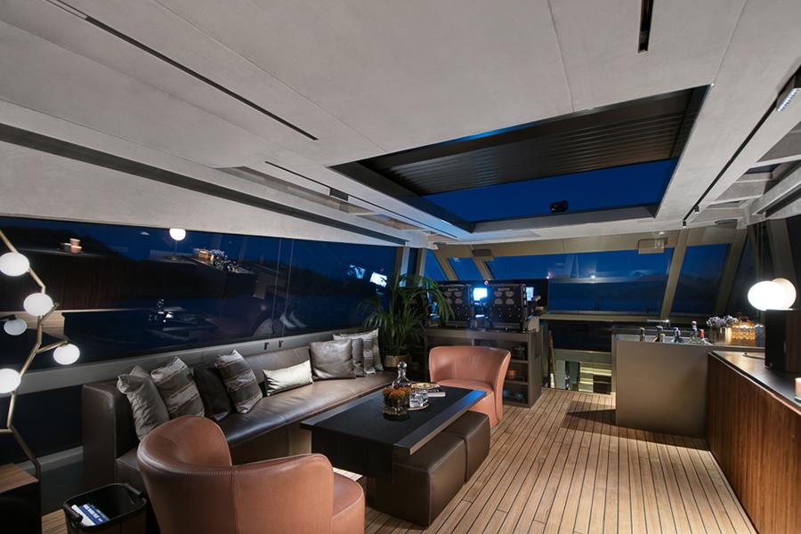 Mazu 82 Superyacht lounge area