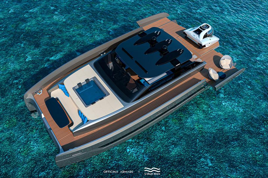 Aquanaut Yacht aerial view